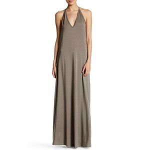 Go Couture Opal Gray T Back Maxi Dress Size L